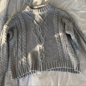 Women's XS chunky heather grey Aerie sweater.